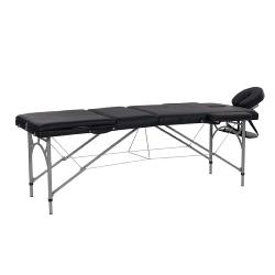 TABLE DE MASSAGE PLIANTE<br />En aluminium, compacte